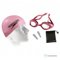 Kit Óculos Speedo Acqua Kit Rosa Frente